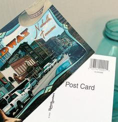 make your own post card journal