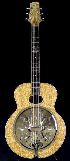 Beard Guitars custom Resonator --- https://www.pinterest.com/lardyfatboy/
