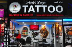 Kata Beach, Phuket. Tattoos are in fashion all around the world, and skilled Thai tattoo artists can be found on every beach of Phuket.