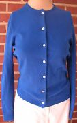 Classic Lands End cardi in royal blue.  Wish they would bring this cardigan back!  :(