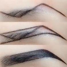 Accessoires Z-Typ Augenbrauen Make-up-Technik Makeup Makeup Techniques eyebrows Eyebrow Makeup Tips, Makeup Tutorial Eyeliner, Eye Makeup Steps, Makeup Contouring, Makeup Videos, Skin Makeup, Makeup Eyebrows, Eye Brows, Drawing Eyebrows