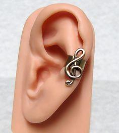 Treble Clef Musical Ear cuff