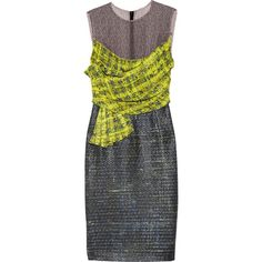 Erdem Courtney voile and tweed dress found on Polyvore