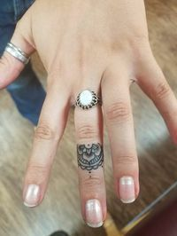 My mandala finger tattoo