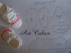 Resultado de imagen para fondant baby shoes template