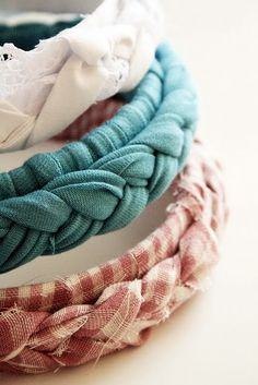 braided fabric headband tutorial