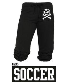 Juniors Soccer Crossbone Capri Sweats