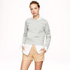 J Crew leather shorts