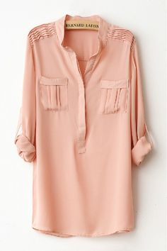 I was trying to get a stain out of one of my shirts that looked similar to this one. i accidentally put a hole in the sleeve by scrubbing too hard. Mode Style, Style Me, Shirt Blouses, Shirts, Tunic Blouse, Street Style, Style Guides, Passion For Fashion, Dress To Impress