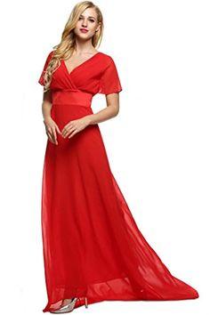 ANGVNS Elegant V Neck Short Sleeve Tunic Full Gown Floor-length Evening Dress >>> Find out more details @ http://www.ilikeboutique.com/boutique/angvns-elegant-v-neck-short-sleeve-tunic-full-gown-floor-length-evening-dress/?lm=020716041409