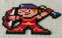 new 52 style aresnal / roy harper / red arrow perler / hama bead made by me for my redhood and the outlaws set #DC