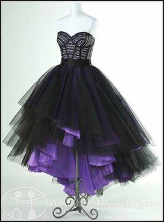 high low purple prom dresses gothic ike | Punk Rock Prom Dresses: Flirt Prom Dress P1607