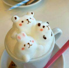 Coffee Latte Art, I Love Coffee, Coffee Shop, Cocoa Tea, Victoria Sponge, Food Drawing, Chocolate Coffee, Cute Food, Kawaii