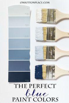 On Sutton Place Paint Colors | Inspiration for choosing paint colors for your own home. Ivory paint | Cream paint | Blue paint colors | Blue paint swatches.