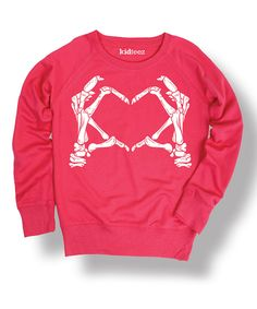 This Raspberry Skeleton Hands Pullover - Girls by Ay Caramba is perfect! #zulilyfinds