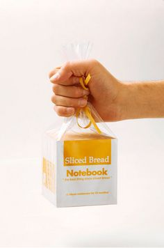 """Sliced Bread Notebook.  Each """"loaf"""" contains 12 small notebooks, one for every month of the year"""