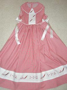 First day of school dress.....Kathy Harrison's designs...