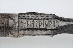 """Gotland, Viking, Large spear or lance-head with silver nesting box (which include runes). Inscription: """"Rane owns this spear. Norse Pagan, Old Norse, Norse Mythology, Viking People, Norse People, Norwegian Vikings, Viking Sword, Viking Culture, Viking Life"""