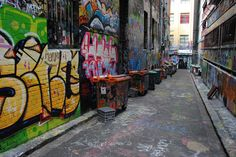Photo of the Day - #Graffiti #Covered #Streets - #Melbourne, #Australia - There are a lot of great things to see and experience navigating around the very walkable city of Melbourne. One of the things I enjoyed most were the random alleys completely covered in graffiti. There was never anyone on these long stretches of concrete, while at the same time there was so much life in the color on the walls. Photo from #absolutevisit at www.absolutevisit.com - all images Creative Commons Noncommercial