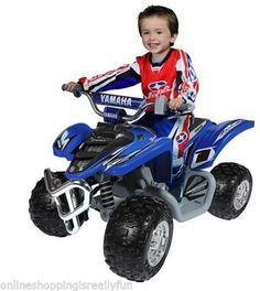 Battery Powered Ride on Toy kids Power Wheels Boys Electric Car ATV #Yamaha #KidsToys