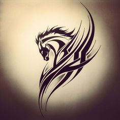 ... Tattoo Ideas Tribal Animals Horse Tribal Tattoo Tattoo Tribal Horse