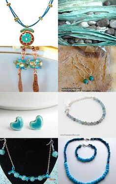 Summer Turquoise by Sally Grayson on Etsy--Pinned with TreasuryPin.com