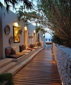 the street in the heaven - mikonos, greece