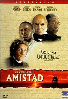 Amistad est un drame historique américain réalisé par Steven Spielberg, sorti en 1997. Le film est inspiré de faits authentiques, une mutinerie d'un groupe d'esclaves africains transportés à bord...  Comptoir du prêt: code 81972