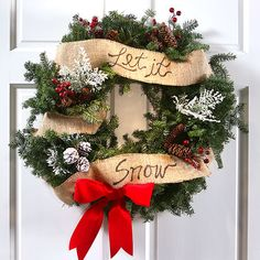 Create a classic and beautiful evergreen wreath with just a few simple steps. Customize the holiday greeting and welcome guests warmly to your home. /
