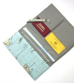"""Taschenorganizer - Reiseetui, Reisemappe """" Weltreise I """"  - ein Designerstück von DashaDesigns bei DaWanda"""