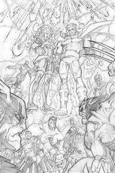 WHAT IF: AVENGERS VS X-MEN 3 PAGE 20 PENCILS by Sandoval-Art.deviantart.com on @deviantART