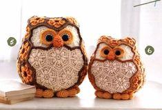 Crochet Owls, Crochet Toys Patterns, Crochet Gifts, Cute Crochet, Crochet Flowers, African Flower Crochet Animals, Animal Decor, Toy Craft, Stuffed Animal Patterns
