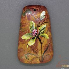 Amazing Pendant Hand Painted beetle Natural Gemstone   ZL805321 #ZL #Pendant