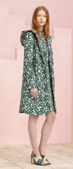Coat in subtle patterned fabric  Tory Burch Resort 2015.