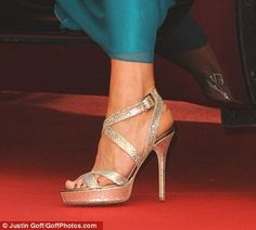 Here are the Jimmy Choos that Kate wore with the amazing teal dress.  To die for!