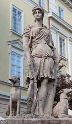 Statue Diana of Versailles. Lvov, Ukraine Stock Photo
