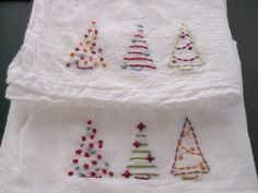 Embroidered Tea Towels for Michelle   Embroidered tea towels…   Flickr