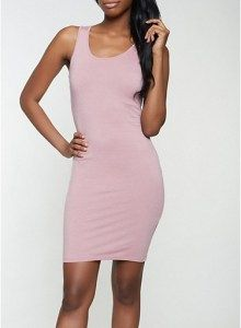 Solid Tank Dress in Rose Size: Medium . . Shop for cute dresses, find discounts, coupon codes, promo on dresses! #cheapdresses #fashiondiscount #cutedress #dresses #outfits Cheap Dresses, Cute Dresses, Beautiful Dresses, Cute Outfits, Mode Blog, Discount Clothing, Mid Length Dresses, Calvin Klein Dress, Tank Dress