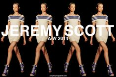 Jeremy Scott A/W 2104 womenswear collection.