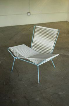 Unknown Palm Springs style rope chair - possibly Allan Gould
