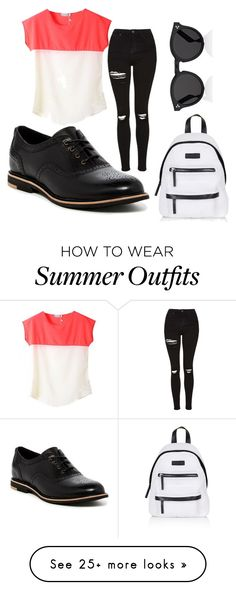 """My First Polyvore Outfit"" by tugceoz on Polyvore featuring Topshop, UGG Australia and Illesteva"