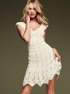 Beautiful crochet dress by strongfeather Beau Crochet, Mode Crochet, Victoria Secret Dress, Victoria Dress, Knit Dress, Dress Skirt, Dress Up, Boho Dress, Sexy Dresses