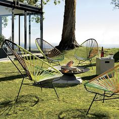 acapulco green outdoor lounge chair | CB2