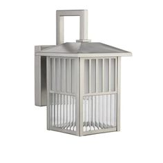 11 in. Lighting Frisco Transitional 1 Light Painted Nickel Outdoor Wall Sconce - Painted Nickel, As Shown Wall Sconces, Outdoor Wall Sconce, Outdoor Wall Lights, Outdoor Walls, Lights, Light Painting, Garage Lighting, Outdoor Wall Light Fixtures, Wall Sconce Lighting