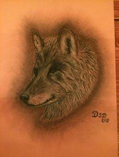 Wolf Pastellkreide by DSD Wolf, Handmade, Hand Made, Wolves, Handarbeit, Timber Wolf
