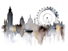 The Watercolor Cityscape Art Prints
