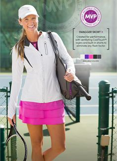 Athleta - The Skort With Swagger USTA Spring Team Outfit!   Love the Pink!