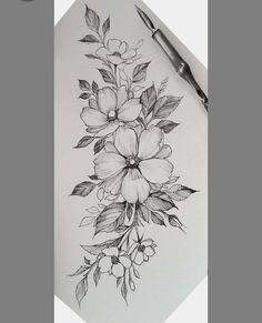 Stomach Tattoos, Body Art Tattoos, Sleeve Tattoos, Cool Tattoos, Floral Tattoo Design, Flower Tattoo Designs, Flower Tattoos, Feminine Tattoo Sleeves, Feminine Tattoos