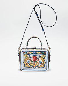 PRINTED DAUPHINE LEATHER SOFT DOLCE HANDBAG Dolce Gabbana Online cc4b3040f2adb