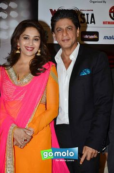 Madhuri Dixit-Nene & Shah Rukh Khan at the Press meet of 'Temptation Reloaded 2014' in Malaysia